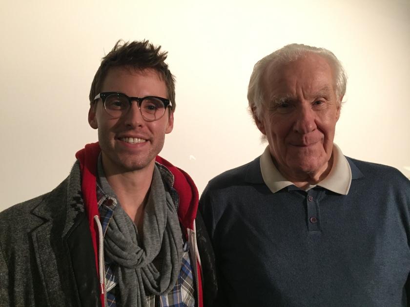 Paul Wallace with Alain Badiou